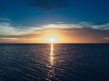 Beach, Clouds, Dawn, Dusk Stock Image
