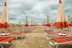 Beach in a cloudy day Royalty Free Stock Photo