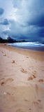 Beach on a cloudy day. Beach and ocean on a cloudy day Stock Images