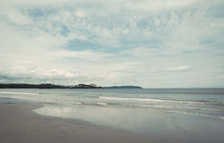 Beach on a cloudy day Royalty Free Stock Image