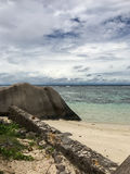 Beach and cloudy sky. On the madagascar Stock Photos