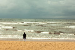 Beach in cloudy Royalty Free Stock Photography