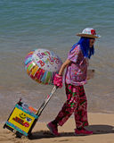 Beach Clown Stock Image