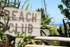 Beach Club. Entrance in Uruguay, South America Stock Image