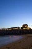 Beach club. Caribbean beach club and restaurant at sunset under blue sky Stock Photography