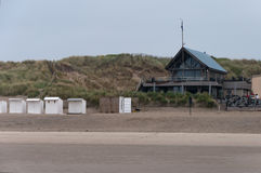 Beach club cafeteria. The cafeteria of a local surf club in Bredene near Ostend Stock Image