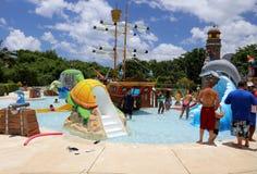 Beach club in Cozumel Stock Photos