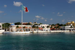 Cozumel harbour. Island of Cozumel in Mexico Stock Image