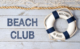 Beach Club, Welcome on Board Royalty Free Stock Images