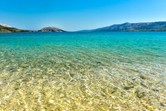 Beach in the coast of Adriatic Sea  island Pag or Hvar Stock Photos