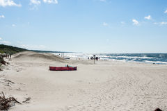 The beach on the coast of the Baltic Sea Royalty Free Stock Image