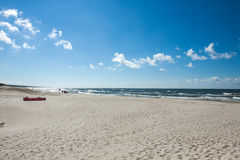 The beach on the coast of the Baltic Sea Royalty Free Stock Photo