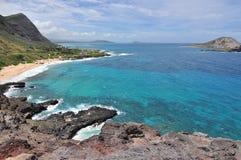 Beach coast. Beautiful coast line in oahu island, hawaii Royalty Free Stock Photos