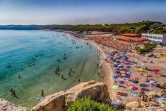 beach on the coast of Puglia Stock Photography