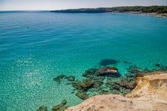 beach on the coast of Puglia Stock Photo