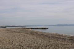 Beach on the coast of Spain stock photo