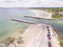 Kennebunkport, Maine Inlet. A beach and coastal inlet in Kennebunkport, Maine, known for its upscale houses Royalty Free Stock Images