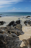 Beach and Coastline, Guidel, Brittany, France Royalty Free Stock Image