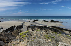 Beach and Coastline, Guidel, Brittany, France Stock Image