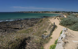 Beach and Coastline, Guidel, Brittany, France Royalty Free Stock Photo
