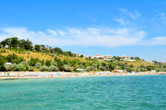 Beach coastline in Odessa royalty free stock photo
