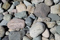 Beach Cobble. Attractive beach cobble textured background stock photography