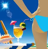 Beach cocktail Stock Photos