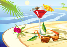Beach cocktail Stock Image