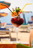 Beach cocktail. Royalty Free Stock Photography