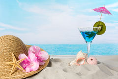 Beach cocktail Royalty Free Stock Photo