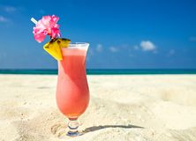Beach Cocktail Royalty Free Stock Photography