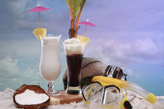 Beach cocktails Stock Image