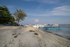 Traditional tourist boats - Malapascua Island - Philippines Royalty Free Stock Photography
