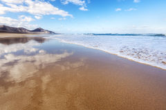 Beach of Cofete, Fuerteventura Royalty Free Stock Photo