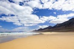 Beach of Cofete, Fuerteventura Stock Photo