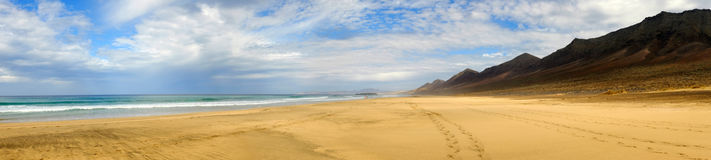 Beach Cofete on Fuerteventura, Spain. stock images