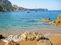Beach Coll Baix, famous bay in the north of Majorca Royalty Free Stock Photos