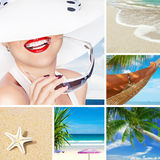 Beach collage Royalty Free Stock Image