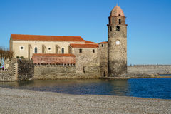 Beach in Collioure Royalty Free Stock Photography