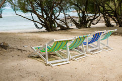 Beach colorful chair Royalty Free Stock Photo