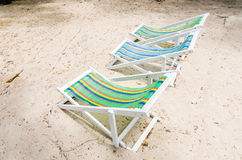 Beach colorful chair Stock Image