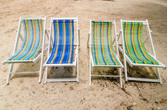Beach colorful chair Royalty Free Stock Images
