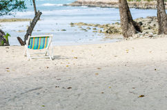 Beach colorful chair Royalty Free Stock Image