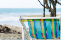 Beach colorful chair Stock Photography