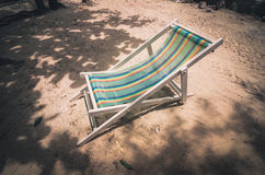 Beach colorful chair  vintage Royalty Free Stock Photos