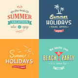 Beach colorful labels set Royalty Free Stock Photo