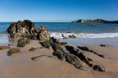Beach of Comillas Royalty Free Stock Images