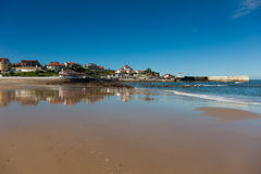 Beach of Comillas Stock Photos