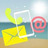 Beach Communication Stock Image
