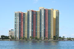 Beach Condos. On the intercoastal in south Florida Stock Photos